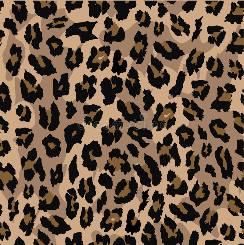 Progettazione senza cuciture del modello del leopardo Priorità bassa dell'illustrazione di vettore royalty illustrazione gratis