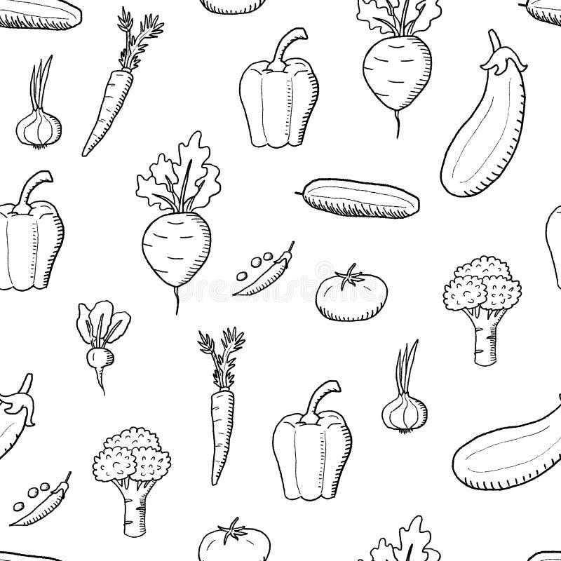Progettazione senza cuciture delle verdure illustrazione di stock