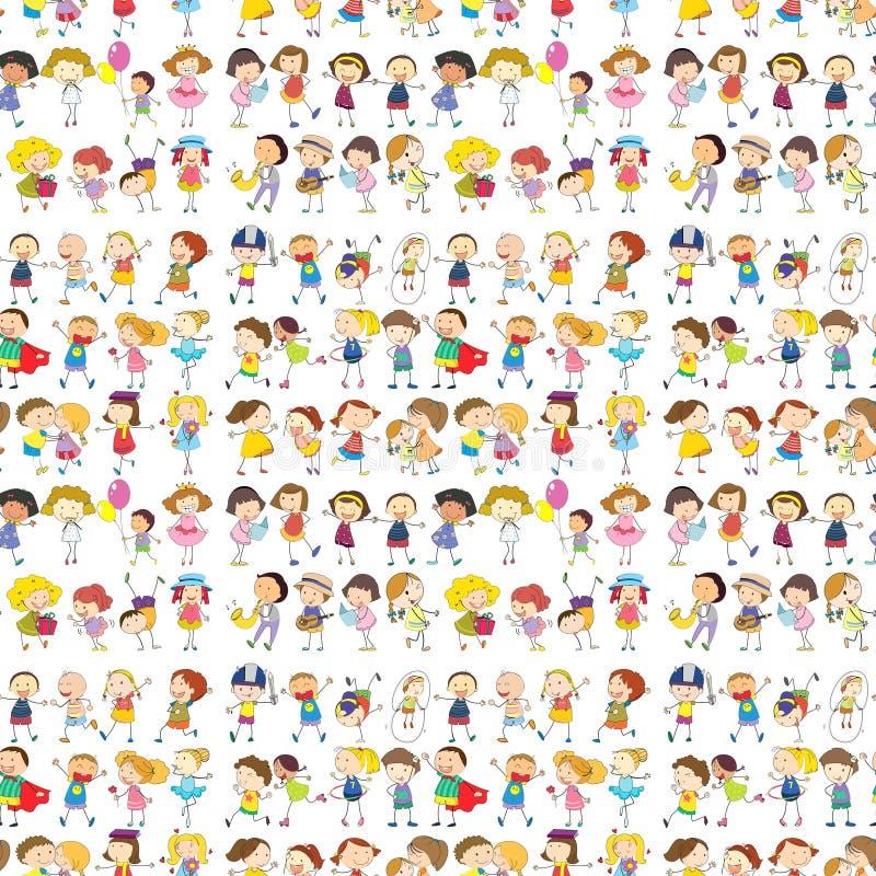 Progettazione senza cuciture di un gruppo di persone illustrazione di stock