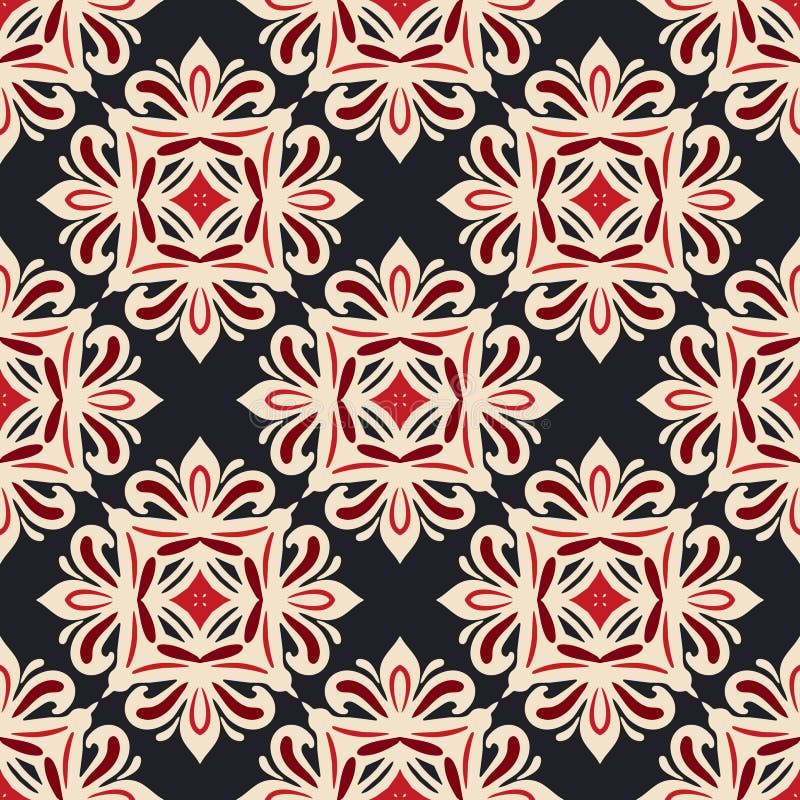 Progettazione senza cuciture di vettore delle mattonelle del damasco royalty illustrazione gratis