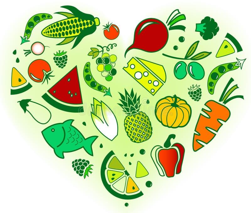 Progettazione senza glutine e bassa di dieta di FODMAP: colourful & ben equilibrato illustrazione di stock