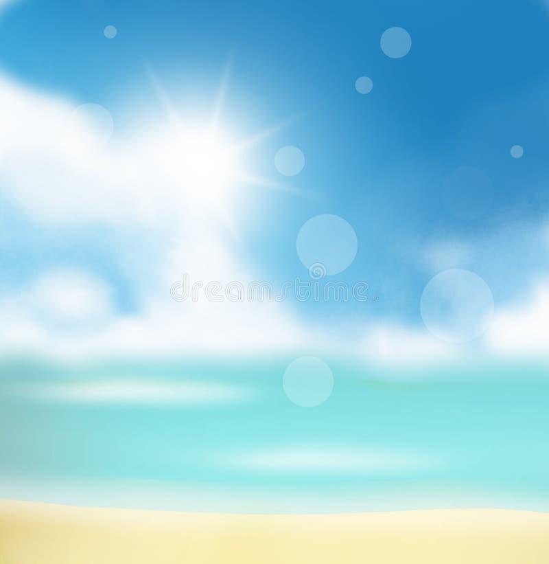 Progettazione soleggiata del cielo del tempo illustrazione di stock