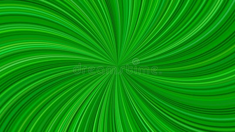 Progettazione a spirale a strisce del fondo dell'estratto psichedelico verde dai raggi di turbine royalty illustrazione gratis