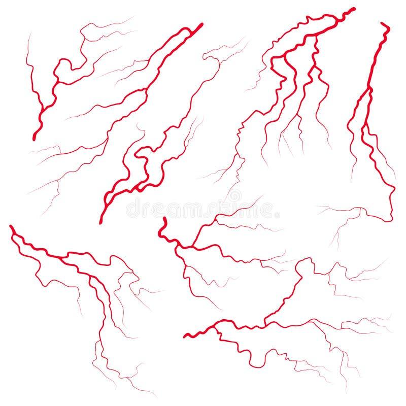 Progettazione stabilita dell'icona di simbolo di vettore del sangue della vena Bella illustrazione royalty illustrazione gratis