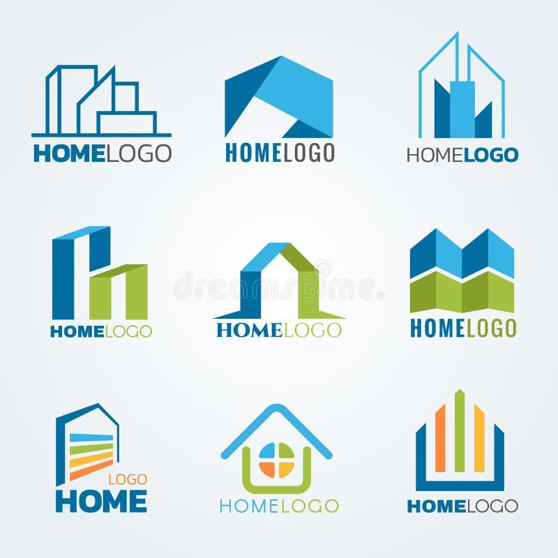 Progettazione stabilita di arte e moderna di vettore domestico di logo illustrazione vettoriale