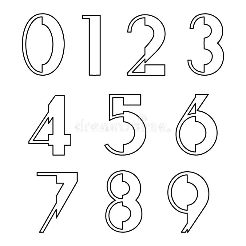 Progettazione stabilita di numero illustrazione di stock