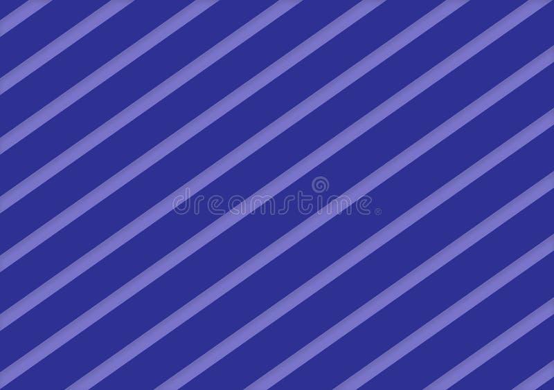 Progettazione a strisce diagonale del fondo delle tonalità blu royalty illustrazione gratis