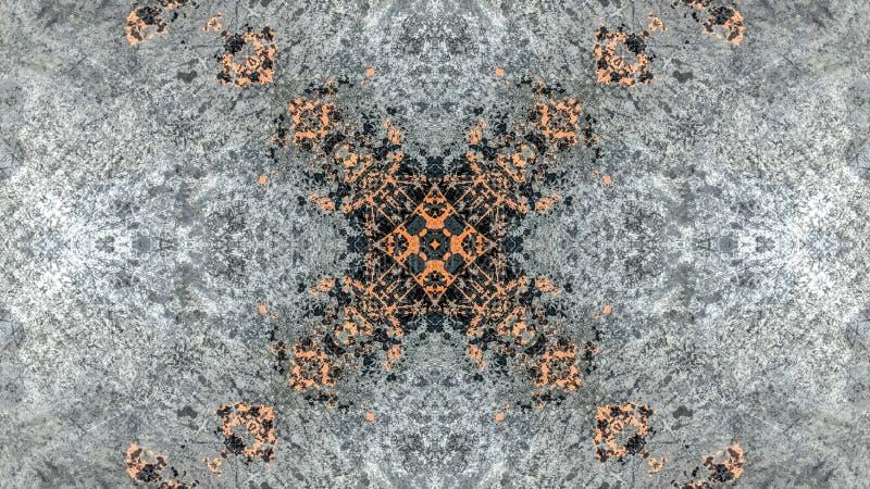 Progettazione a strisce grigia ed arancio dell'estratto di lerciume illustrazione vettoriale