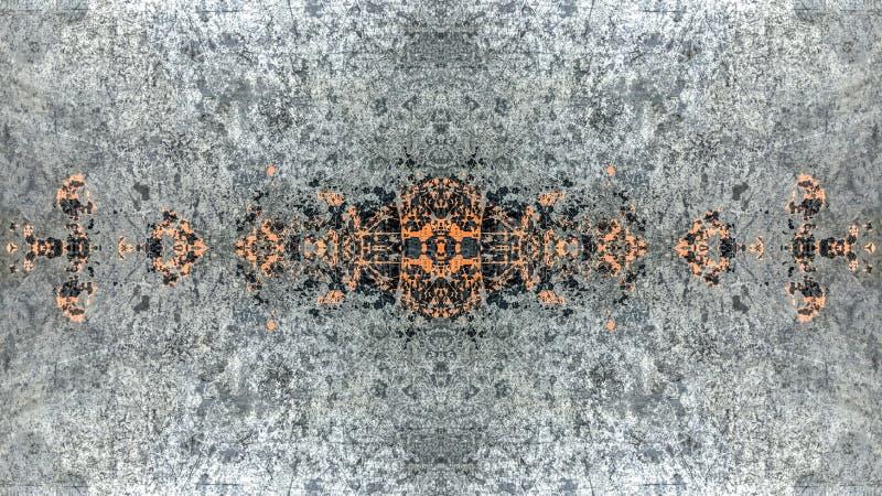 Progettazione a strisce grigia ed arancio dell'estratto di lerciume royalty illustrazione gratis