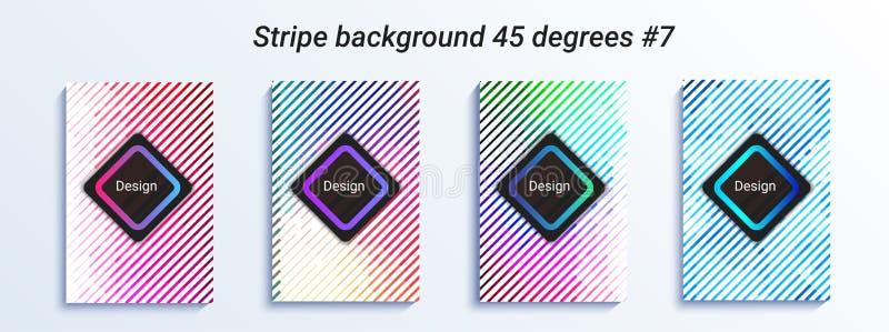 Progettazione a strisce minima del bakcground Pendenza di semitono variopinta Reticolo geometrico luminoso Illustrazione di vetto illustrazione di stock