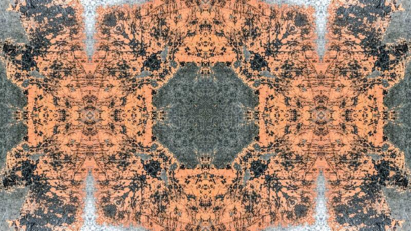 Progettazione a strisce nera ed arancio dell'estratto di lerciume royalty illustrazione gratis