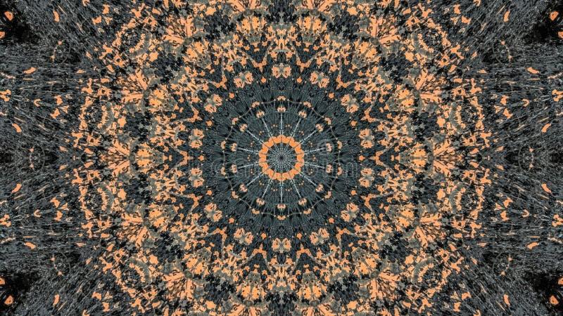Progettazione a strisce nera ed arancio dell'estratto di lerciume illustrazione di stock