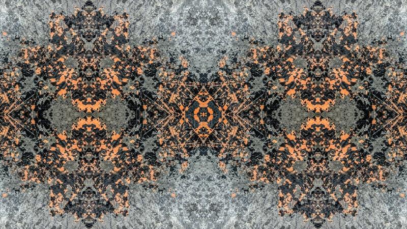 Progettazione a strisce nera ed arancio dell'estratto di lerciume illustrazione vettoriale