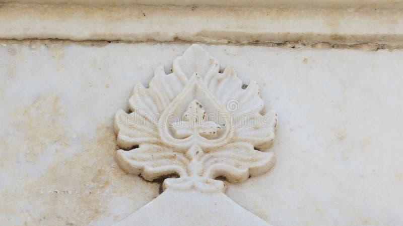 Progettazione sul Taj Mahal India fotografia stock libera da diritti