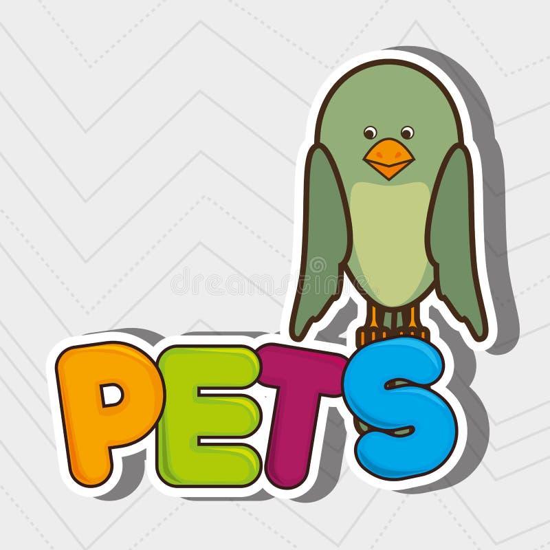 progettazione sveglia degli animali domestici illustrazione vettoriale