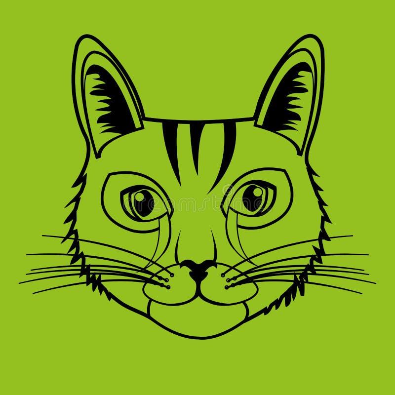Progettazione sveglia del gatto illustrazione di stock - Immagine del gatto a colori ...