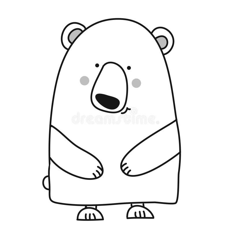 Progettazione sveglia dell'orso illustrazione di stock