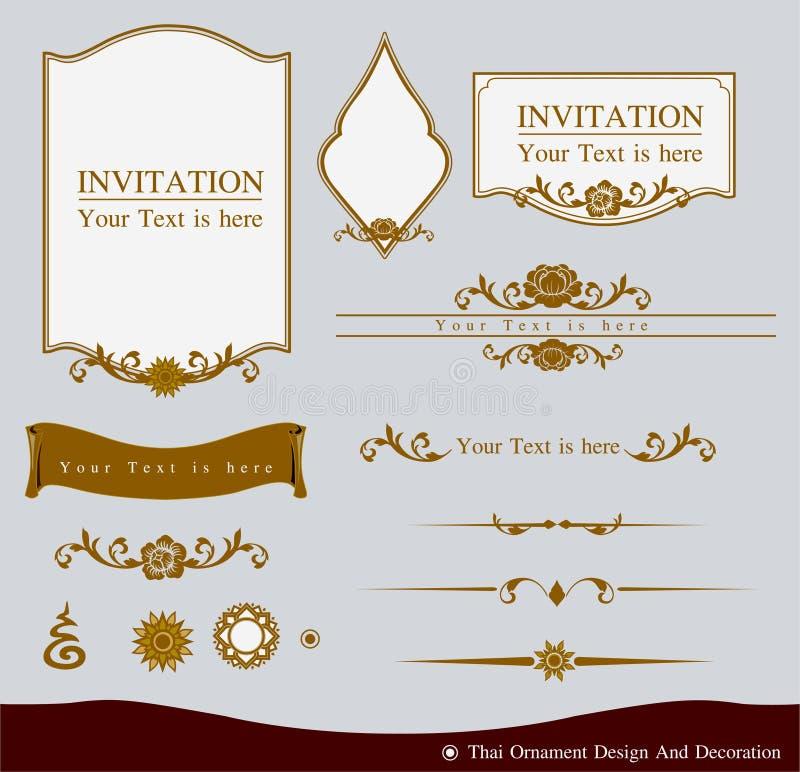 Progettazione tailandese e decorazione dell'ornamento royalty illustrazione gratis