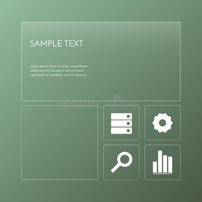 Progettazione trasparente del modello fotografie stock libere da diritti