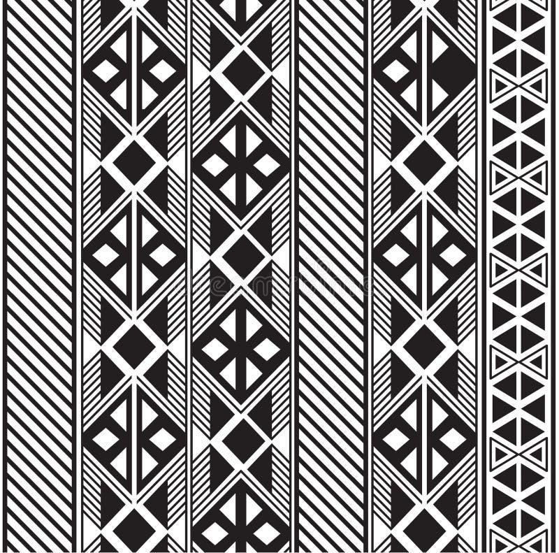 Progettazione tribale senza cuciture del modello in bianco e nero royalty illustrazione gratis