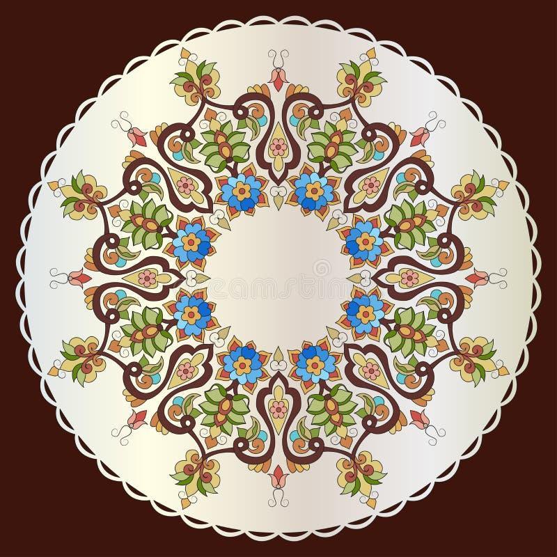 Progettazione turca ottanta una di vettore del modello dell'ottomano antico illustrazione vettoriale