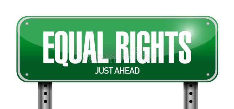 Progettazione uguale dell'illustrazione del segno di diritti illustrazione vettoriale
