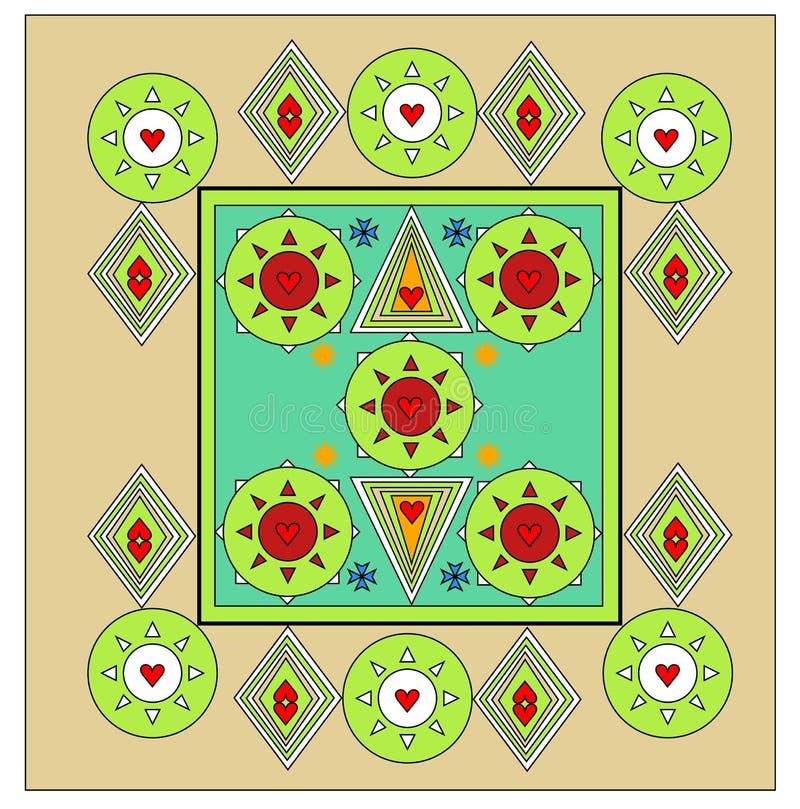 Progettazione unica del lenzuolo tutto il rivestimento di colore illustrazione vettoriale