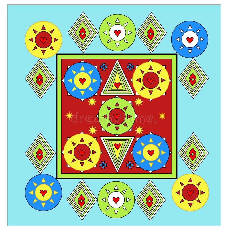 Progettazione unica del lenzuolo tutto il rivestimento di colore di strato illustrazione vettoriale