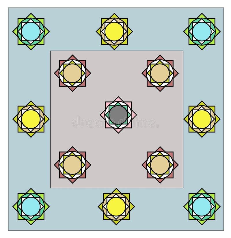 Progettazione unica del lenzuolo tutto il rivestimento di colore di strato illustrazione di stock