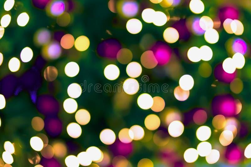 Progettazione variopinta astratta del bokeh, fondo di festa, effetto multicolore Occasioni festive concetto, festa, Natale immagine stock