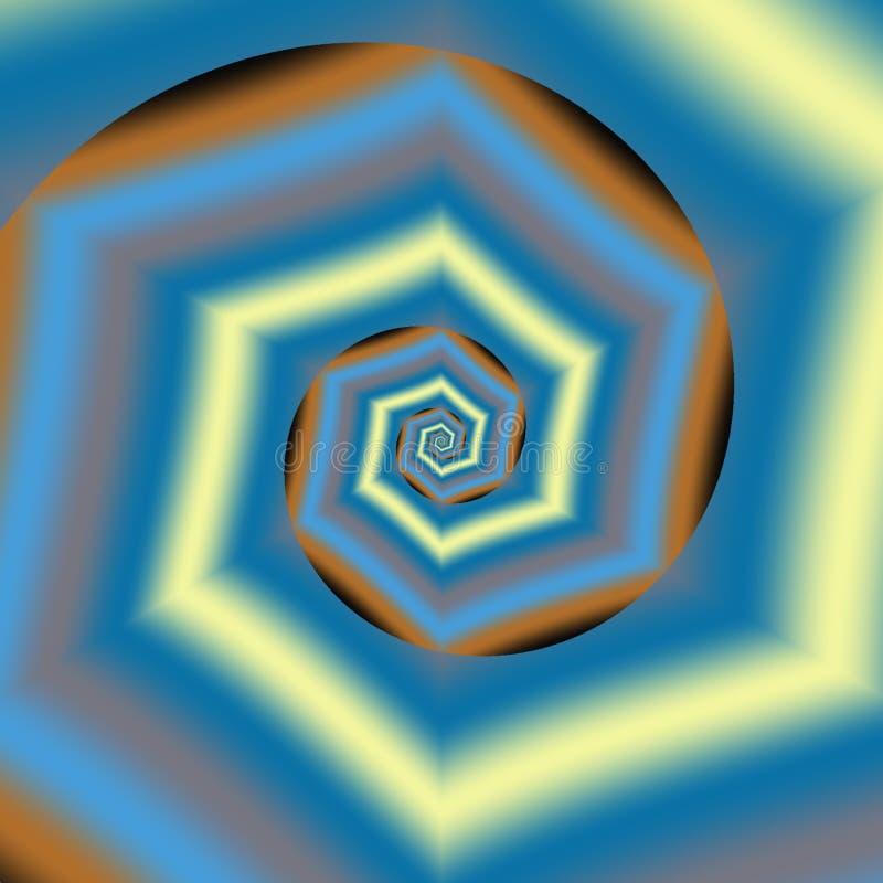 Progettazione variopinta del fondo dell'estratto, blu, giallo, nero, arancio illustrazione vettoriale
