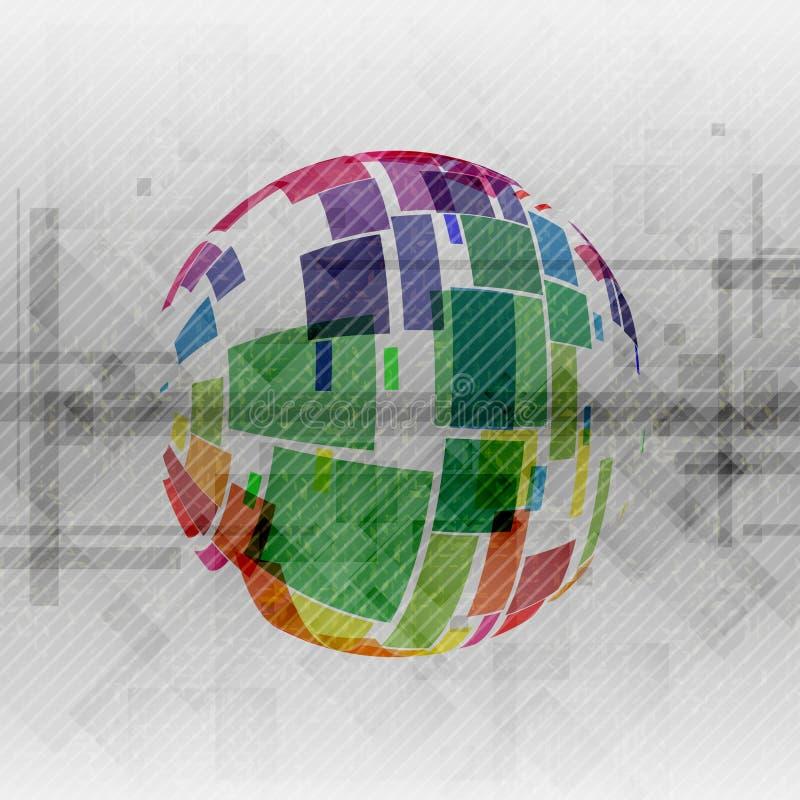 Progettazione variopinta del globo. royalty illustrazione gratis