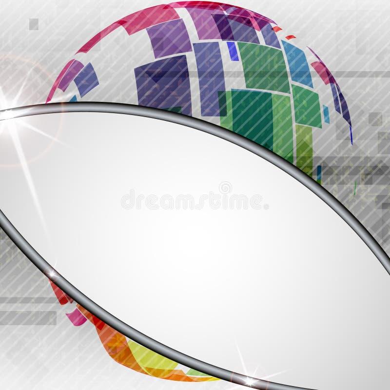 Progettazione variopinta del globo. illustrazione di stock