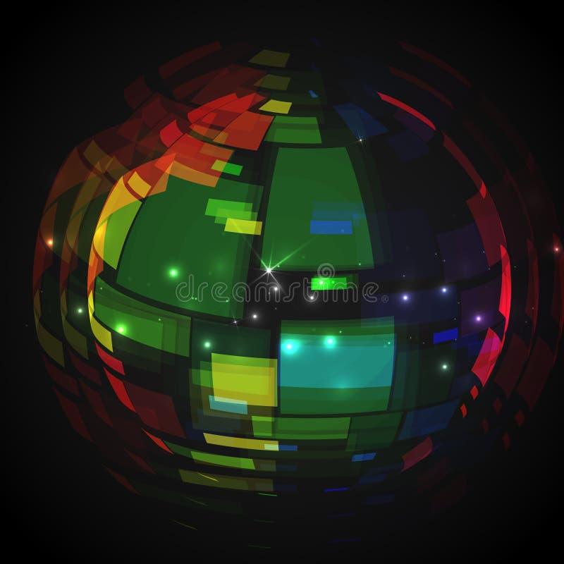 Progettazione variopinta del globo. illustrazione vettoriale