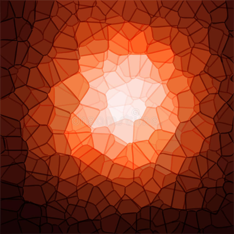 Progettazione variopinta del modello di cristallizzazione royalty illustrazione gratis