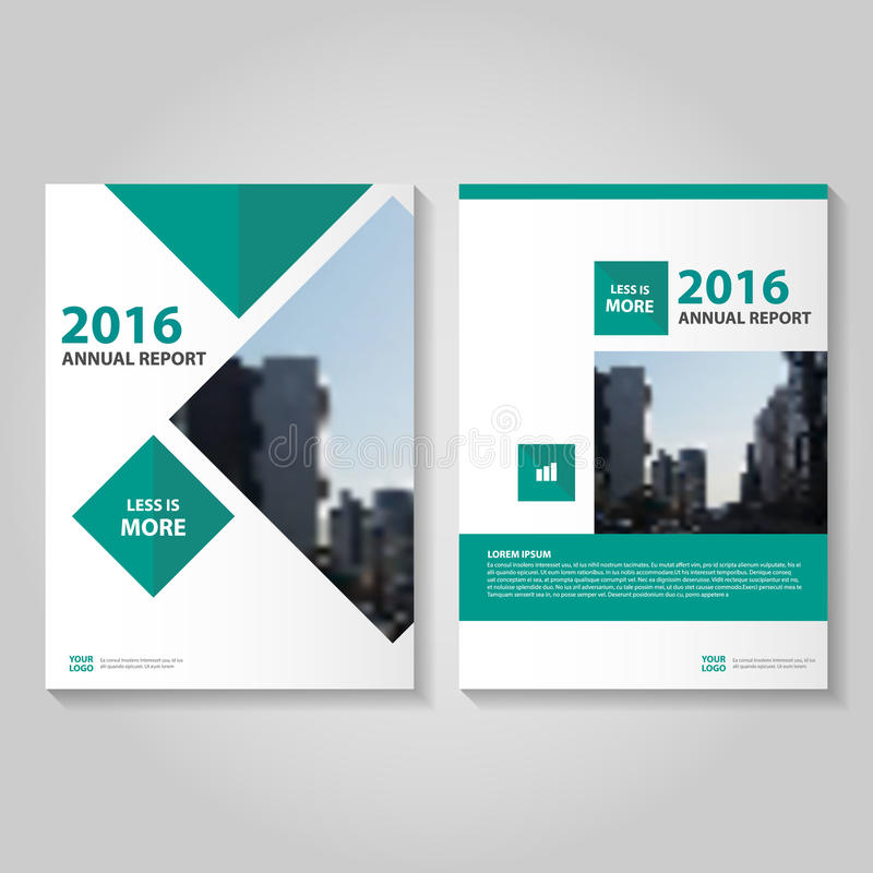 Progettazione verde del modello dell'aletta di filatoio dell'opuscolo dell'opuscolo del rapporto annuale di vettore, progettazion illustrazione di stock