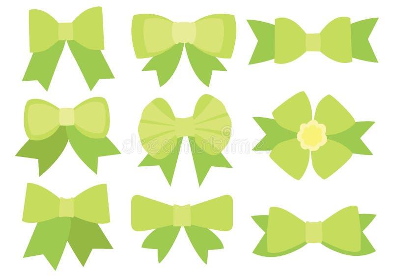 Progettazione verde dell'arco su fondo bianco illustrazione vettoriale