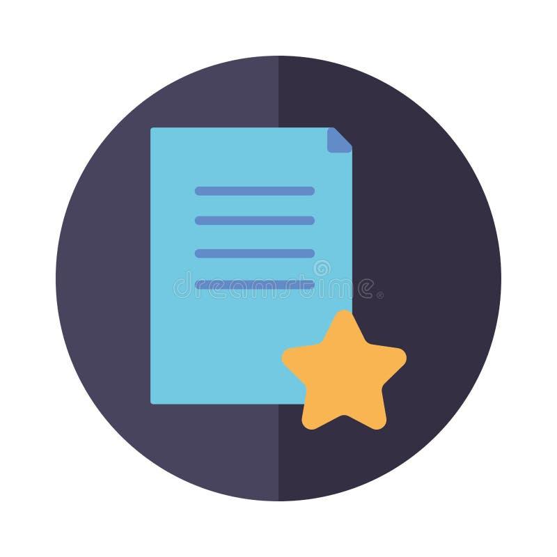 Progettazione vettoriale di blocchi di icone del documento e di stelle fotografie stock libere da diritti