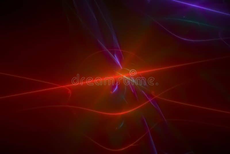 Progettazione vibrante di immaginazione della curva dell'estratto di frattale magico creativo vibrante di forma creativa illustrazione di stock