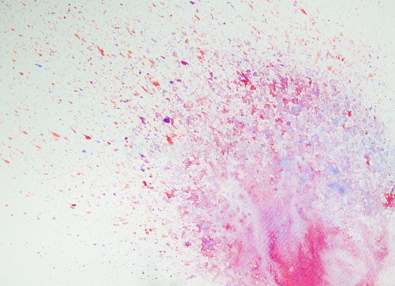 Progettazioni astratte della pittura del fondo dell'acquerello fotografie stock