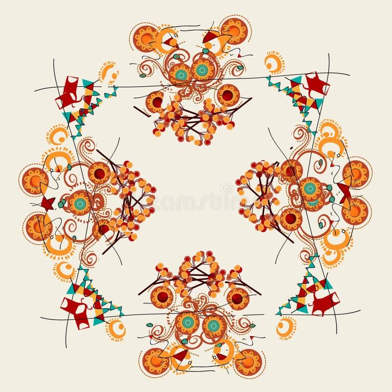 Progettazioni astratte floreali royalty illustrazione gratis