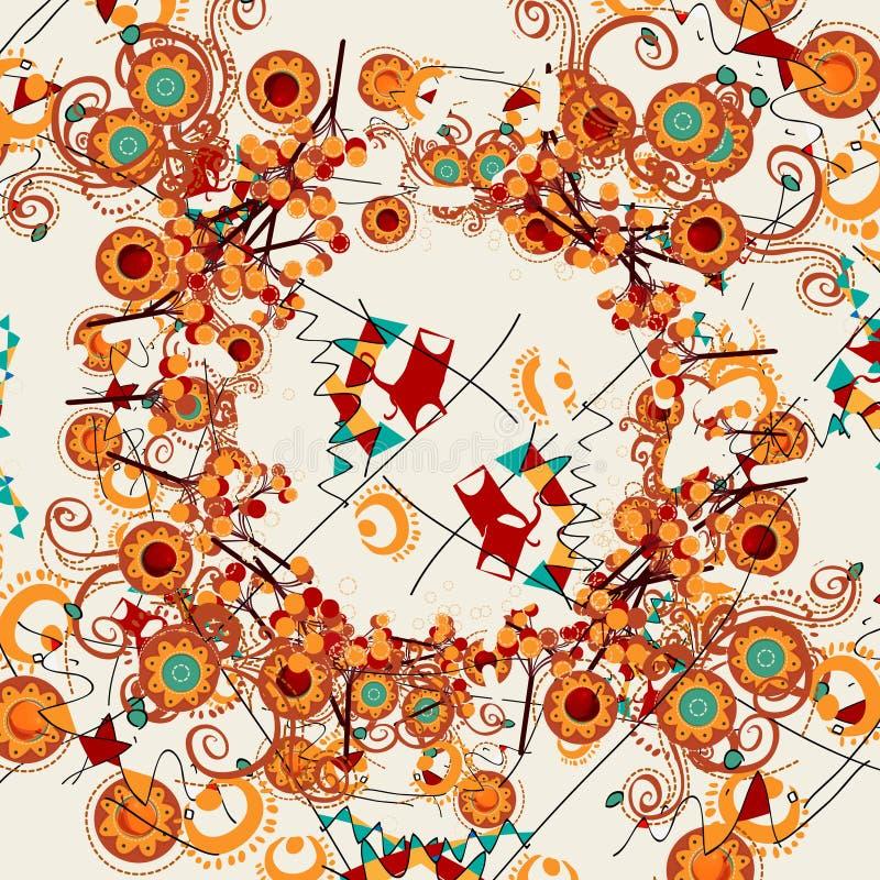 Progettazioni astratte floreali illustrazione vettoriale