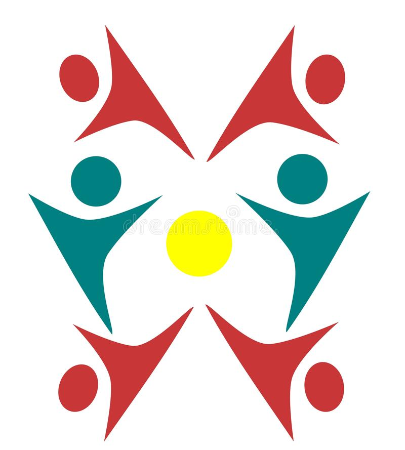 Progettazioni del logos della gente royalty illustrazione gratis