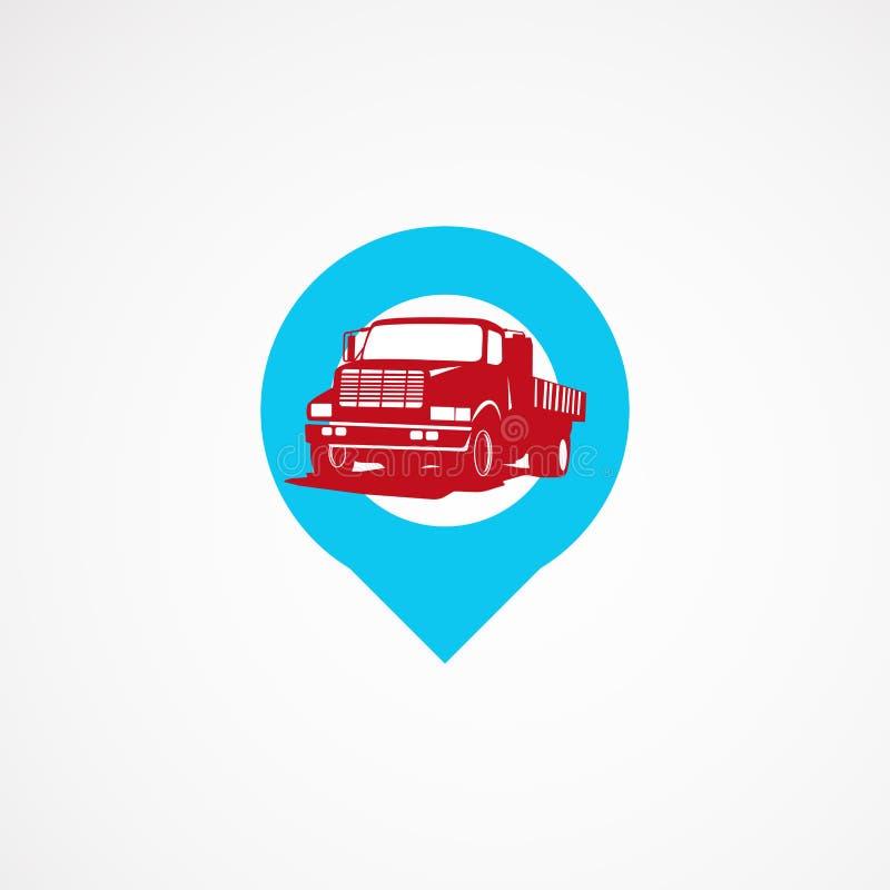 Progettazioni del modello di logo del punto del camion illustrazione di stock