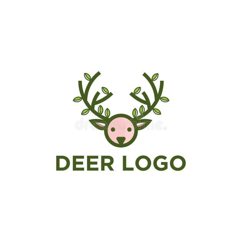 Progettazioni di logo dei cervi royalty illustrazione gratis