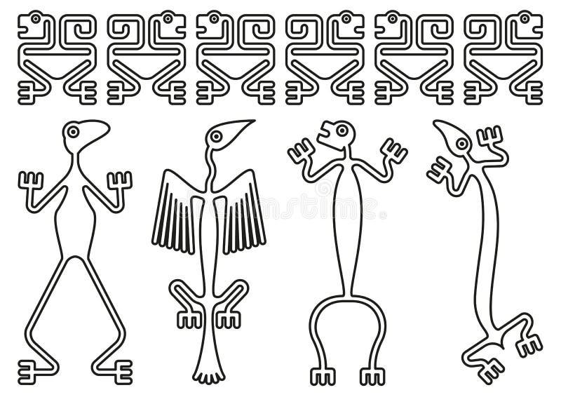 Progettazioni di Pre-colombiano illustrazione vettoriale