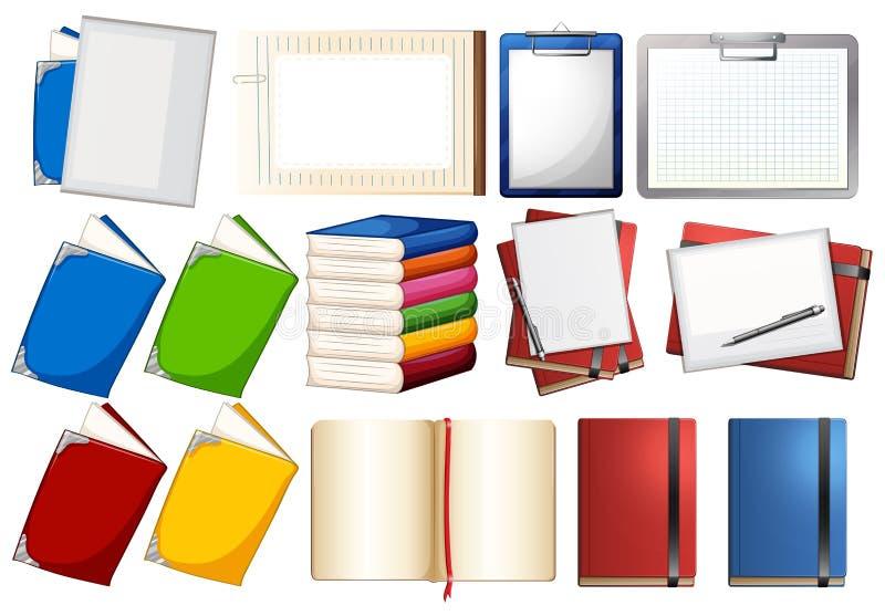 Progettazioni differenti dei libri e delle carte royalty illustrazione gratis