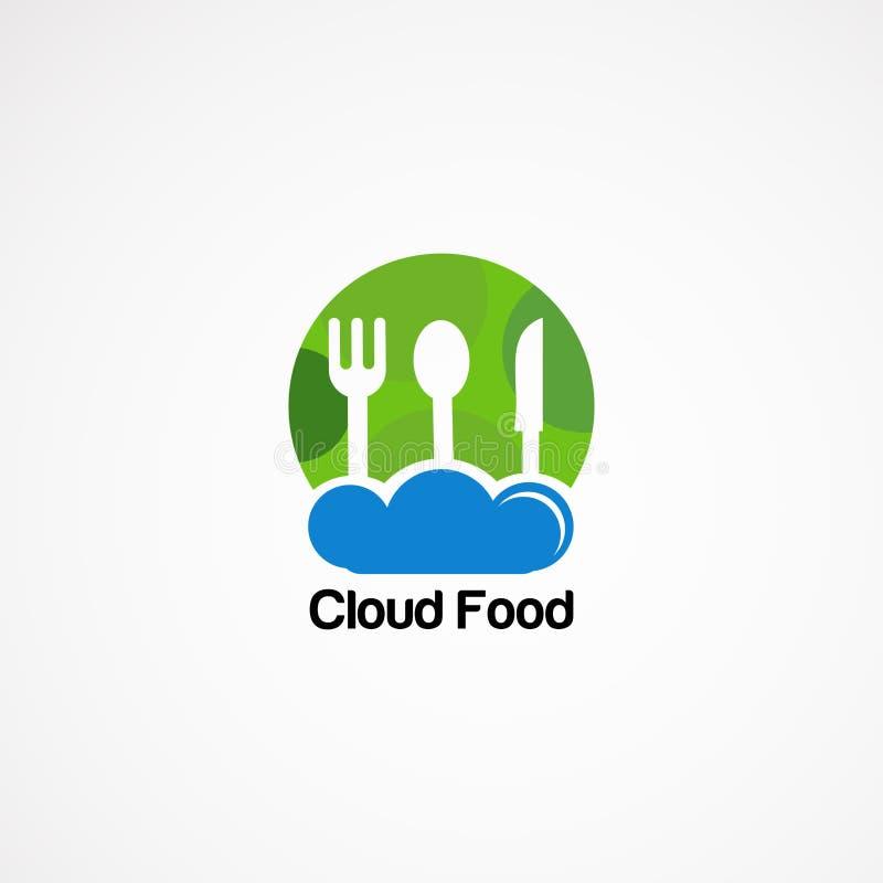 Progettazioni, icona, elemento e modello di vettore di logo dell'alimento della nuvola per l'affare royalty illustrazione gratis