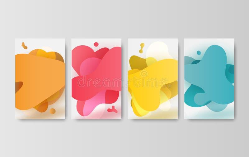 Progettazioni minime della copertura di vettore dell'illustrazione r Copertura bianca di carta digitale di progettazione creativa illustrazione di stock