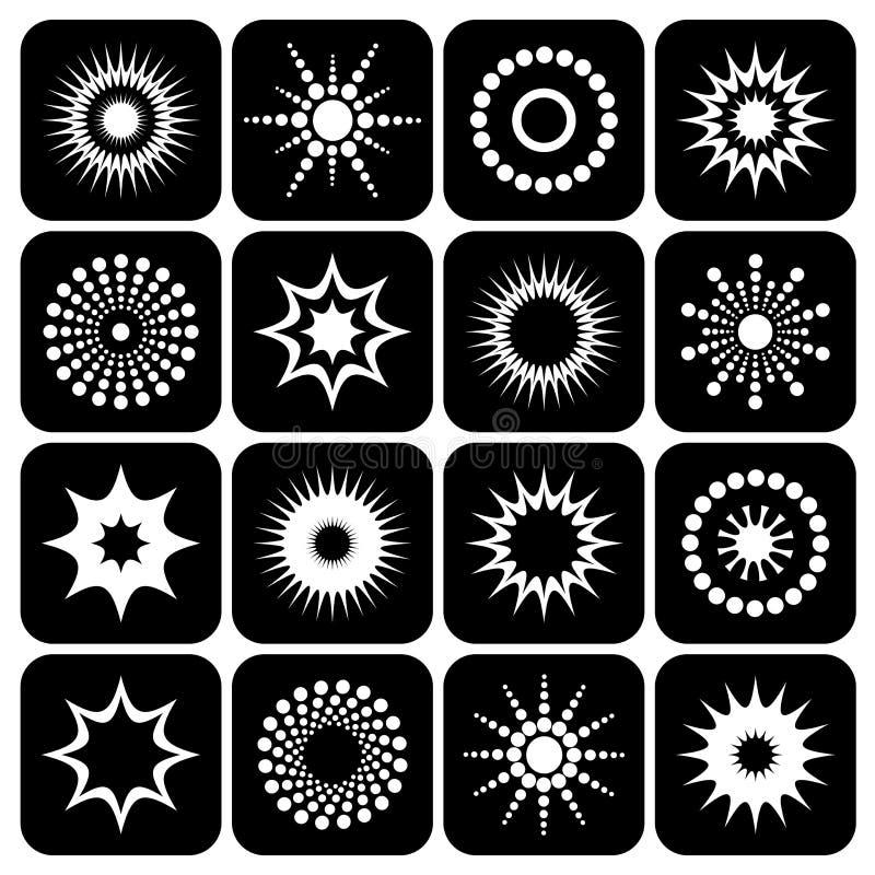 Progetti l'insieme di elementi illustrazione vettoriale